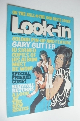 <!--1974-09-07-->Look In magazine - Gary Glitter cover (7 September 1974)