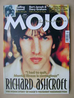 MOJO magazine - Richard Ashcroft cover (July 2000 - Issue 80)