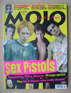 MOJO magazine - The Sex Pistols cover (March 2000 - Issue 76)