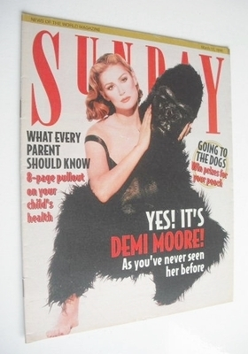 <!--1996-03-17-->Sunday magazine - 17 March 1996 - Demi Moore cover