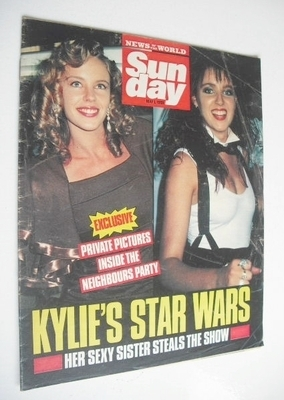 <!--1988-05-01-->Sunday magazine - 1 May 1988 - Dannii and Kylie Minogue co