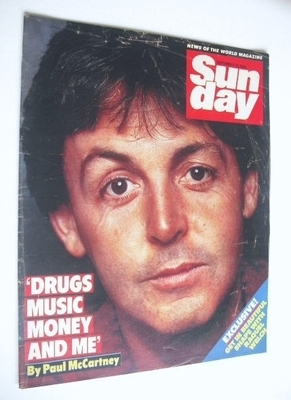 <!--1984-09-30-->Sunday magazine - 30 September 1984 - Paul McCartney cover