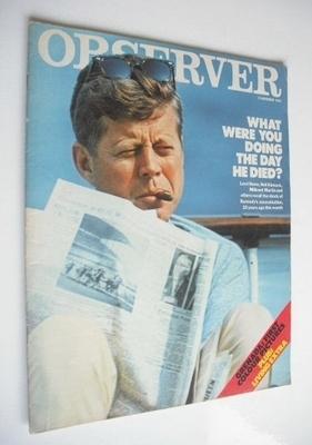 <!--1983-11-13-->The Observer magazine - JFK cover (13 November 1983)
