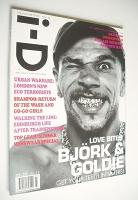 <!--1996-07-->i-D magazine - Goldie cover (July 1996 - No 154)