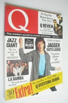 Q magazine - Mick Jagger cover (October 1987)