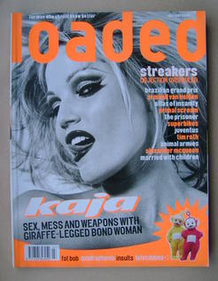 Loaded magazine - Kaja cover (July 1997)