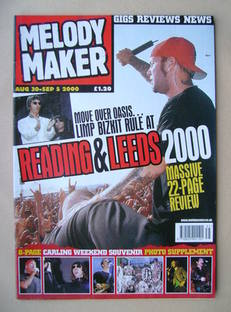 <!--2000-08-30-->Melody Maker magazine - Limp Bizkit cover (30 August-5 Sep