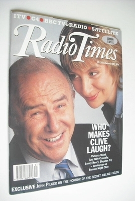 <!--1994-02-19-->Radio Times magazine - Clive James and Victoria Wood cover