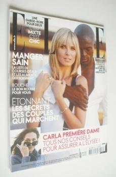 French Elle magazine - 11 February 2008 - Heidi Klum and Seal cover