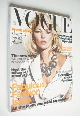 <!--2009-09-->British Vogue magazine - September 2009 - Kate Moss cover