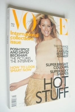 <!--1999-03-->British Vogue magazine - March 1999 - Amber Valletta cover