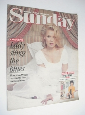 <!--1992-08-16-->Sunday Mirror magazine - Kim Wilde cover (16 August 1992)