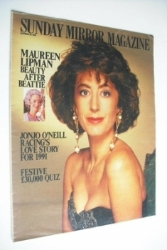 Sunday Mirror magazine - Maureen Lipman cover (30 December 1990)