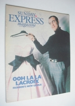 <!--1987-08-30-->Sunday Express magazine - 30 August 1987 - Christian Lacroix cover