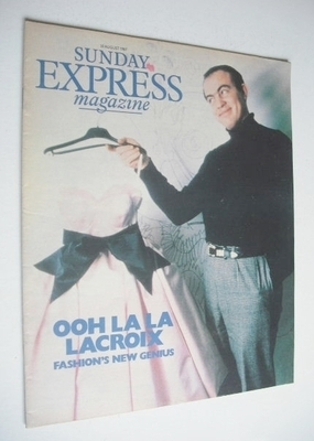 <!--1987-08-30-->Sunday Express magazine - 30 August 1987 - Christian Lacro