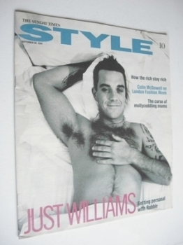Style magazine - Robbie Williams cover (30 September 2001)