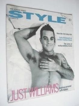 Style magazine - Robbie Williams cover (30 September 2001)