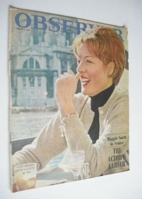 <!--1966-01-09-->The Observer magazine - Maggie Smith cover (9 January 1966