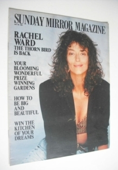Sunday Mirror magazine - Rachel Ward cover (30 July 1989)