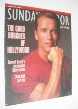 Sunday Mirror magazine - Arnold Schwarzenegger cover (20 June 1993)