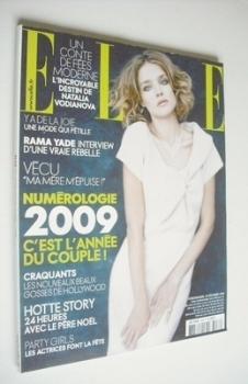 French Elle magazine - 20 December 2008 - Natalia Vodianova cover