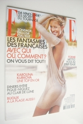 <!--2005-08-01-->French Elle magazine - 1 August 2005 - Karolina Kurkova co