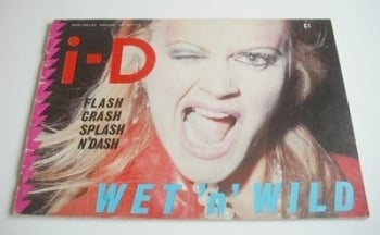 i-D magazine - Wet 'n' Wild cover (March 1983 - No 13)