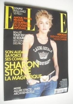 French Elle magazine - 21 February 2005 - Sharon Stone cover