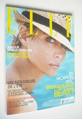 <!--2005-07-04-->French Elle magazine - 4 July 2005 - Emmanuelle Beart cove