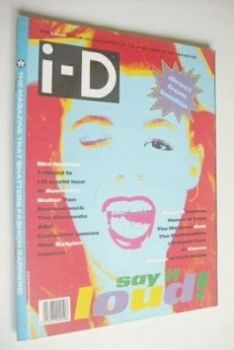 i-D magazine - Say It Loud cover (June 1989 - Issue 70)