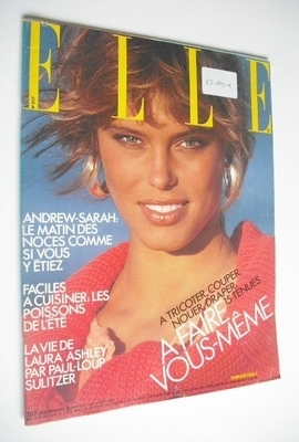 <!--1986-08-04-->French Elle magazine - 4 August 1986 - Renee Simonsen cove