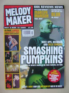<!--2000-11-08-->Melody Maker magazine - Billy Corgan cover (8-14 November