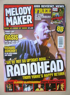<!--2000-06-21-->Melody Maker magazine - Thom Yorke cover (21-27 June 2000)