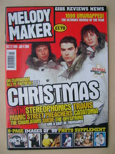 Melody Maker magazine - Stereophonics cover (22 December 1999-4 January 2000)