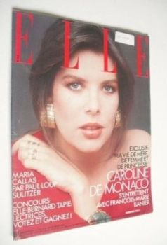 French Elle magazine - 21 July 1986 - Princess Caroline cover