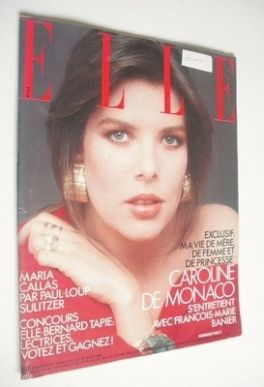 <!--1986-07-21-->French Elle magazine - 21 July 1986 - Princess Caroline co