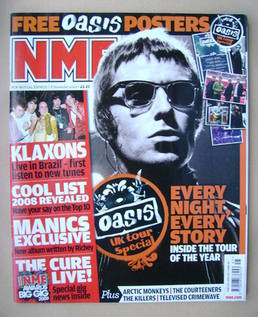 <!--2008-11-08-->NME magazine - Liam Gallagher cover (8 November 2008)