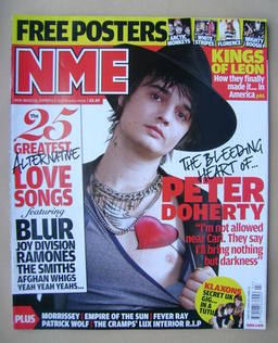 <!--2009-02-14-->NME magazine - Peter Doherty cover (14 February 2009)