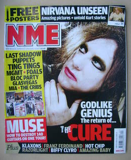 <!--2008-11-01-->NME magazine - Robert Smith cover (1 November 2008)