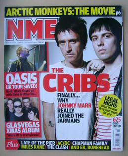 <!--2008-10-18-->NME magazine - The Cribs cover (18 October 2008)