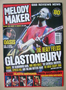 <!--2000-06-28-->Melody Maker magazine - Fran Healy cover (28 June-4 July 2