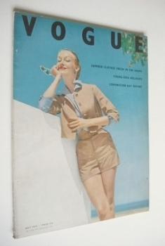 British Vogue magazine - July 1953 (Vintage Issue)