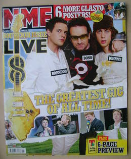 <!--2005-07-09-->NME magazine - Brandon Flowers, Bono, Johnny Borrell cover