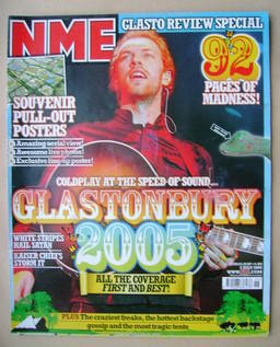 <!--2005-07-02-->NME magazine - Chris Martin cover (2 July 2005)