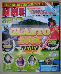 <!--2005-06-25-->NME magazine - Glasto 2005 cover (25 June 2005)