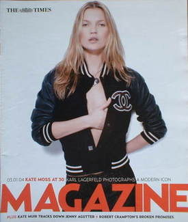 <!--2004-01-03-->The Times magazine - Kate Moss cover (3 January 2004)