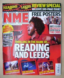 <!--2008-08-30-->NME magazine - Zack de la Rocha cover (30 August 2008)