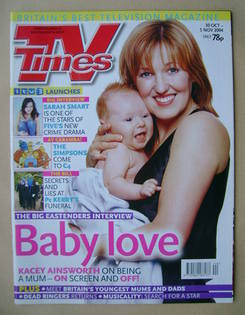 <!--2004-10-30-->TV Times magazine - Kacey Ainsworth cover (30 October-5 No