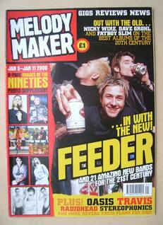 <!--2000-01-05-->Melody Maker magazine - Feeder cover (5-11 January 2000)