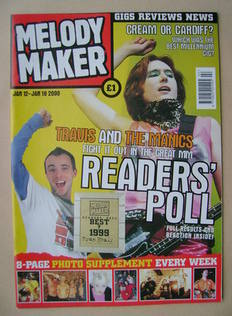 Melody Maker magazine - Readers' Poll cover (12-18 January 2000)